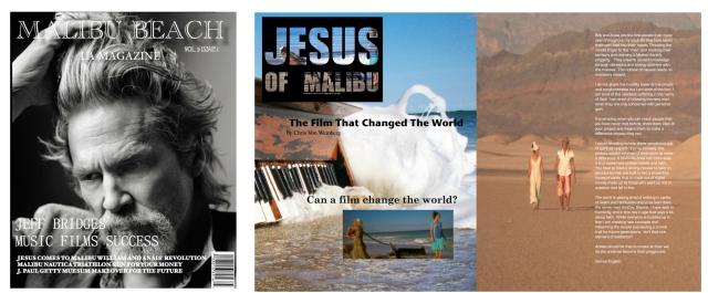 Malibu Beach LA Magazine Billy and Anais Yeager Jesus of Malibu